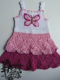 ... baby häkeln kleid häkelarbeit baby baby kitteln kleider vestidos