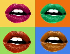 Gallery For > Andy Warhol Lips Pop Art