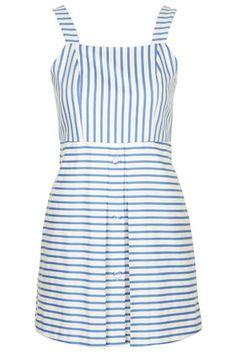 Gestreiftes Sommerkleid mit Trägern