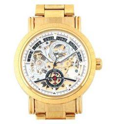 3a40f49b562 Relógio Masculino Pulso Ess Esqueleto Movim Mecânico Dourado Melhores  Relógios