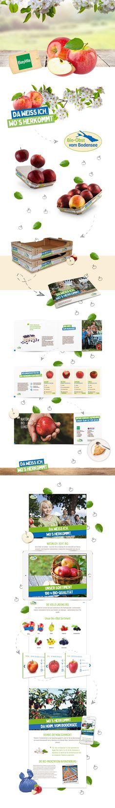 BayWa Obst: Rebranding und Markenkommunikation für die Marke Bio-Obst vom Bodensee #rebranding #markenkommunikation #packagingdesign #webdesign #printdesign