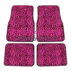 Pink Cheetah Car Floor Mats