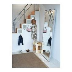 Another mirror to look at during the trip to IKEA. HOVET Mirror IKEA Can be hung horizontally or vertically. Safety film reduces damage if glass is broken. Ikea Inspiration, Floor Mirror, Entry Mirror, Closet Mirror, Mirror 3, Mirror Bedroom, Master Bedroom, My New Room, Ideas