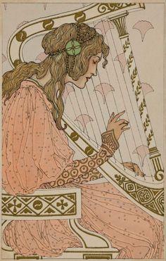 Art Nouveau post card. illustration published by M. Munk, Vienna. Art Nouveau