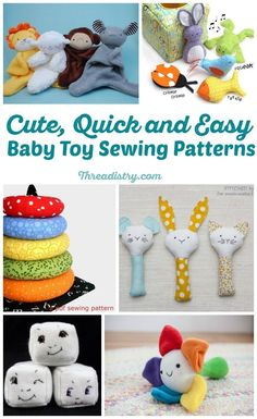 Sewing for babies is such fun. Small, quick projects that are oh so cute. Here are some of the best easy baby toy sewing patterns. Let's get sewing!