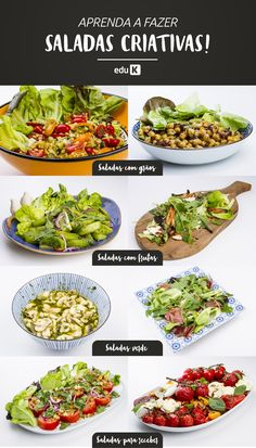Vegan Lunches Food Menu Vegetarian Recipes Veggie Recipes Low Carb Recipes Healthy Recipes Salad Menu Kinds Of Salad Menu Dieta Veggie Recipes, Low Carb Recipes, Vegetarian Recipes, Healthy Recipes, Salad Menu, Vegan Lunches, Food Menu, Going Vegan, Food And Drink