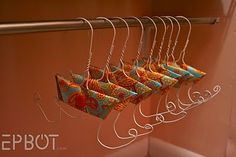 Love this idea - flip flop hangers!