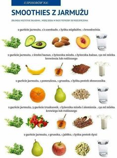 18 new Pins for your bon appétit board - WP Poczta Healthy Diet Tips, Healthy Smoothies, Healthy Drinks, Smoothie Recipes, Diet Recipes, Healthy Eating, Healthy Recipes, Food Design, Cancer Fighting Foods