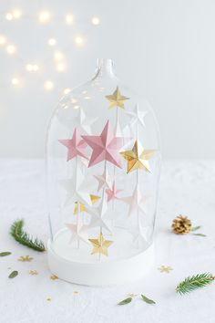 3D stars for Christmas - Carnets parisiens