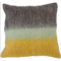 ombre felt pillow