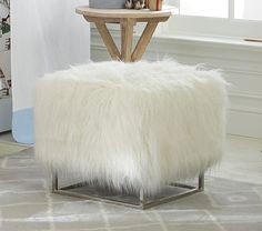 This glam piece of furniture is the perfect place to rest your feet. Crafted from supremely soft faux-fur, our extra-supportive Mongolian Ottoman is a must-have for kicking back and relaxing. Fire Pit Table And Chairs, Toddler Table And Chairs, Black Dining Room Chairs, Toddler Chair, Office Chairs, White Eames Chair, White Bedroom Chair, Round Wicker Chair, Quartos