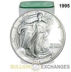 Roll of 20 - 1995 1 oz Silver Eagle Brilliant Uncirculated