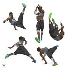 ArtStation - Parkour Character Design, Adrian Wilkins