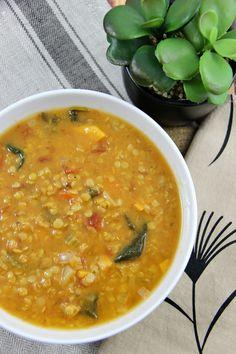 Slow Cooker Coconut Red Lentil and Carrot Soup Recipe (Vegan) Slow Cooker Lentil Soup, Vegetable Slow Cooker, Detox Vegetable Soup, Vegan Slow Cooker, Detox Soup, Vegetable Stock, Vegetable Recipes, Coconut Lentil Soup, Vegan Carrot Soup