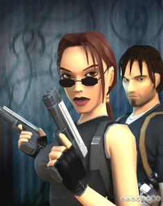 Lara Croft and Kurtis Trent (Tomb Raider: The Angel of Darkness)..I STILL PRAY FOR THE REMAKE OF THIS <3