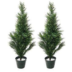 32 Inch Topiary Cedar Fake Artificial Tree Indoor Outdoor (Set of 2) AUEY http://www.amazon.com/dp/B00RTLDCBC/ref=cm_sw_r_pi_dp_kqU3wb0NE4TSF