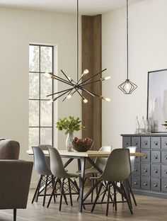 Discover best modern dining room lighting ideas to refresh your home Luminaire Vintage, Deco Luminaire, Luxury Homes Interior, Home Interior Design, Living Room Light Fixtures, House Paint Interior, Room Interior, Dining Lighting, Industrial Lighting