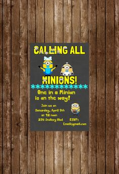 New To DotcaShop On Etsy: Printed | Minion Baby Shower! | Economy Shipping  (6.32 CAD)