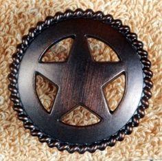 Texas Knobs Texas Star Cabinet Hardware Knob CP214ORB | Western ...