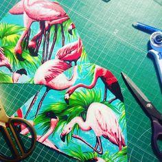Las primerísimas #alpargatas de #flamencos muy #rosas y #meikas digo #mentas @monicameika #espadrilles #flamingo #handmade #madrid #malasaña