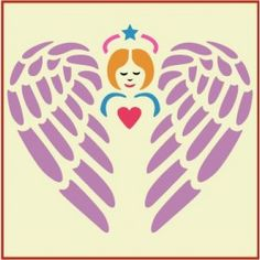 Guardian Angel Stencil | Gorgeous home decor and crafting stencil from The Artful Stencil! US Shipping in only 5 days. We ship all over the world.