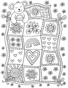 The Girls Coloring Book, Ages 3 - 6 Quote Coloring Pages, Colouring Pics, Free Printable Coloring Pages, Coloring For Kids, Coloring Pages For Kids, Coloring Sheets, Coloring Books, Embroidery Patterns, Quilt Patterns