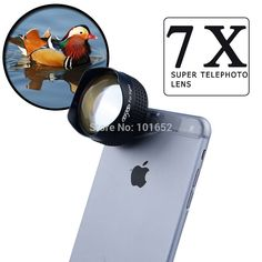 7X Telephoto Telescope Mobile Phone Camera Lens for iphone 5 5s 6 6plus Samsung S4 S5 Note 3 4 Optical 7X Lens APE-7XST