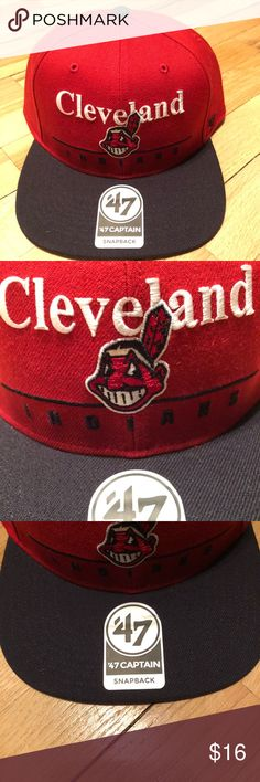 Cleveland Indians Snapback - NEW Brand new never worn with tags 47 Accessories Hats
