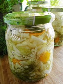 Coleslaw, Preserves, Pickles, Cucumber, Food And Drink, Canning, Vegetables, Drinks, Recipes