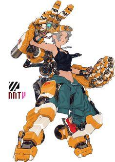26 New Ideas For Artstation Concept Art Character Design Anime Female Character Design, Character Design References, Character Design Inspiration, Character Concept, Character Art, Logo Inspiration, Arte Robot, Robot Art, Robots Robots