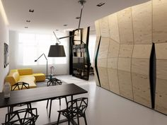 Pequeno apartamento projetado com o conceito Transformer