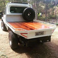 That tray but timber in grey 💜 Mini Trucks, Diesel Trucks, Cool Trucks, Chevy Trucks, Pickup Trucks, Custom Flatbed, Custom Truck Beds, Custom Trucks, Truck Flatbeds