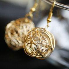 Erin McDermott -- Gold Nest Earrings