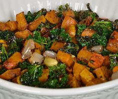 Winter Food: Roasted Butternut Squash and Kale with Lemon Brown Rice