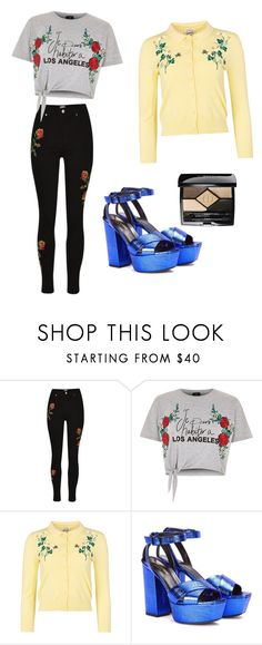 """""""para salir"""" by cesarioludmi ❤ liked on Polyvore featuring River Island, Yves Saint Laurent and Christian Dior"""
