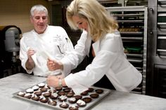 #socialites Atlanta socialite Sacha Taylor and Four Seasons pastry chef Christopher Jennings prepare for Celebrity Chocolate Night at the hotel.  Sip With Socialites  http://sipwithsocialites.com/