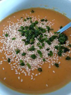 carrot soup with an asian touch vegan vegetarian vegetarisch