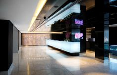 African Pride 15 on Orange by Marriott Hotel Lift Lobby by Source Interior Brand Architecture