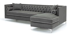 I love the grey with white piping, but not so crazy about the couch style