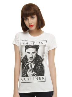 Once Upon A Time Captain Guyliner Girls T-Shirt