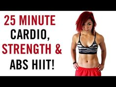 25 Minute Cardio, Strength, & Abs Dumbbell CRAZY HIIT! - YouTube
