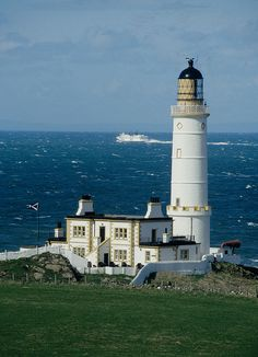 Corsewall Lighthouse,  Kirkcolm,  near Stranraer,  Scotland by David May, via Flickr  Another venerable old lady: http://www.nlb.org.uk/LighthouseLibrary/Lighthouse/Corsewall/