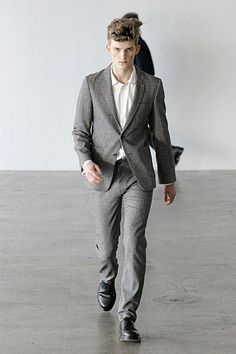Patrick Ervell SS 2010 Grey Suit Ss, Menswear, Grey, Pants, Style, Fashion, Men, Gray, Trouser Pants