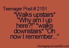 This isn't just a teenager problem :-(   Stupid two story house....