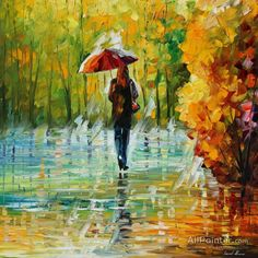 Leonid Afremov The Beauty Of The Rain oil painting reproductions for sale