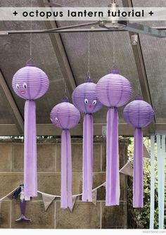 Turn some lanterns into octopi for your next party.