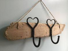 Driftwood Coat Rack 2 | Etsy Driftwood Shelf, Driftwood Jewelry, Love Heart, Straw Bag, Reusable Tote Bags, Coat, Handmade, Etsy, Sewing Coat