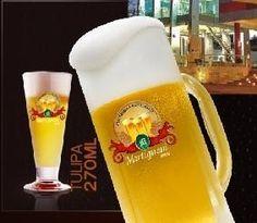 Cerveja Chopp Martignoni Lager, estilo Premium American Lager, produzida por  Cervejaria Caseira, Brasil. 4.8% ABV de álcool.