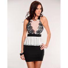 Female Lace Floral Stitching Voile Sheath Dress High Waist Women Cross Strap Brief Mini Fashion Slim Club Vestidos  W573915