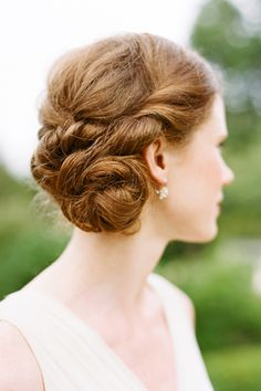 Pretty bridal updo | photography by @Katie Stoops